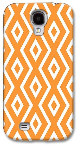 Orange Pattern Galaxy S4 Case by Christina Rollo