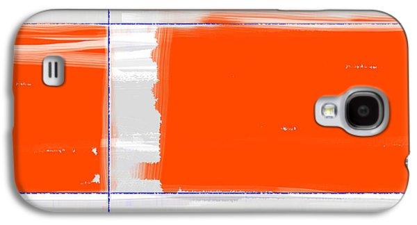 Orange Rectangle Galaxy S4 Case by Naxart Studio