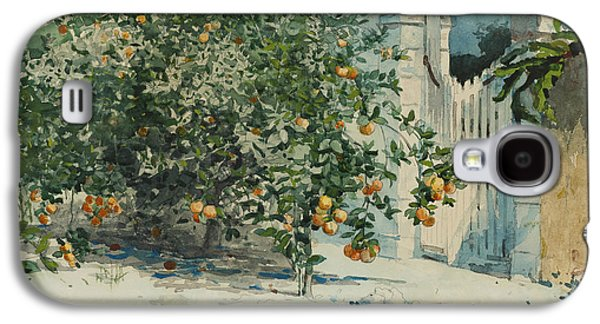 Orange Trees And Gate Galaxy S4 Case by Winslow Homer