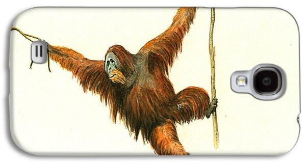 Orangutan Galaxy S4 Case by Juan Bosco