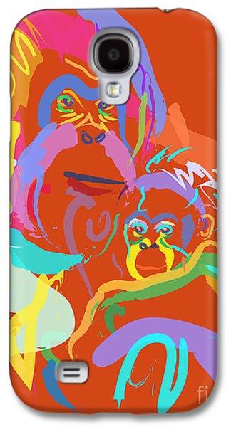 Orangutan Mom And Baby Galaxy S4 Case by Go Van Kampen