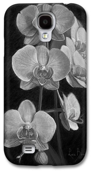 Orchids - Black And White Galaxy S4 Case by Lucie Bilodeau