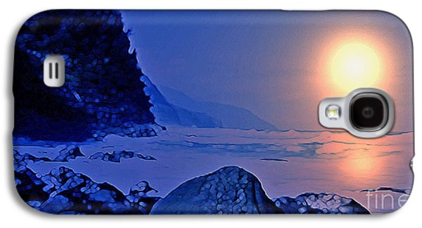 Sunset Abstract Galaxy S4 Cases - Oregon Reflection Galaxy S4 Case by Warren Kasow