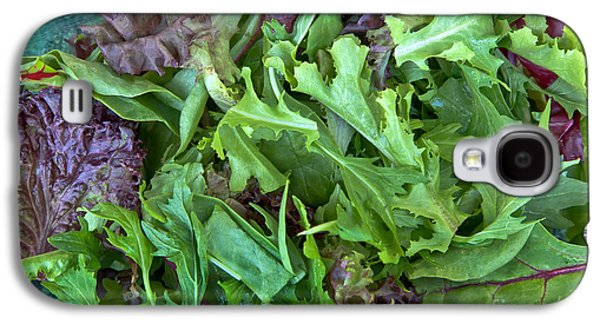 Romaine Galaxy S4 Cases - Organic Baby Lettuce Salad Mix Galaxy S4 Case by Inga Spence