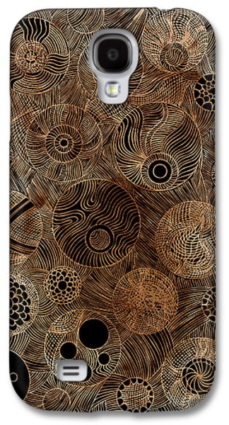 Linocut Paintings Galaxy S4 Cases - Organic Forms Galaxy S4 Case by Frank Tschakert