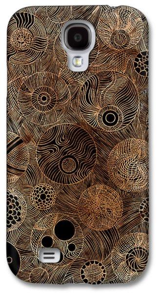 Linocut Galaxy S4 Cases - Organic Forms Galaxy S4 Case by Frank Tschakert