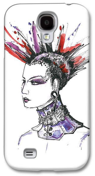 Purple Drawings Galaxy S4 Cases - Original fashion watercolor illustration Galaxy S4 Case by Marian Voicu