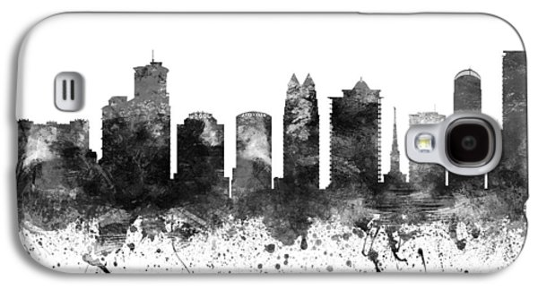 Skylines Drawings Galaxy S4 Cases - Orlando Florida Cityscape 02BW Galaxy S4 Case by Aged Pixel