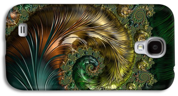 Abstracts Galaxy S4 Cases - Ornamental Shell Abstract Galaxy S4 Case by Georgiana Romanovna
