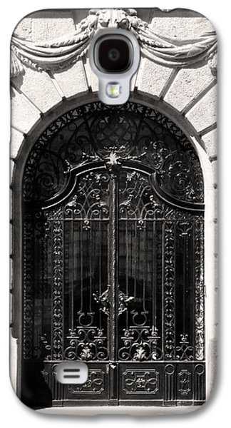 Bas Relief Reliefs Galaxy S4 Cases - Ornamental Wrought Iron Doors with Lion Budapest Galaxy S4 Case by James Dougherty