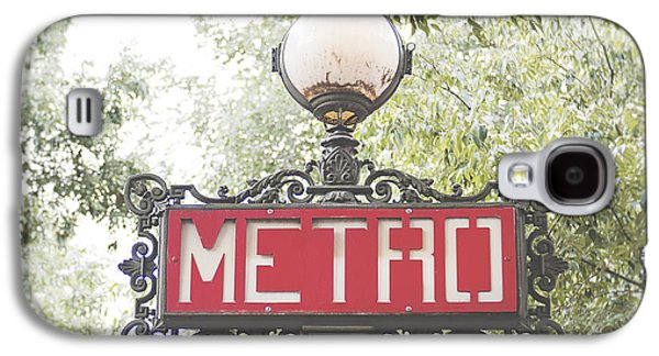 Ornate Paris Metro Sign Galaxy S4 Case by Ivy Ho