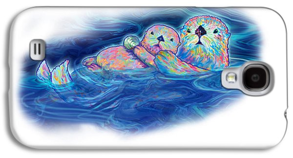 Otter Family Image Galaxy S4 Case by Teresa Ascone