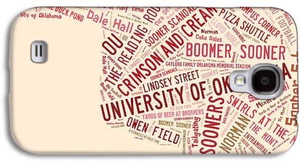 Ou Word Art University Of Oklahoma Galaxy S4 Case by Roberta Peake