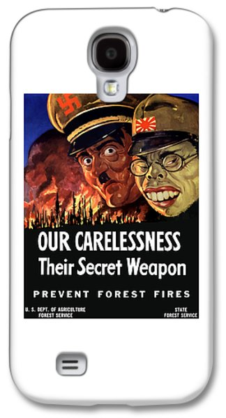 Caricatures Galaxy S4 Cases - Our Carelessness - Their Secret Weapon Galaxy S4 Case by War Is Hell Store