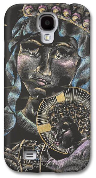 Religious Drawings Galaxy S4 Cases - Our Lady Of Mt. Carmel Galaxy S4 Case by Michelle Miller
