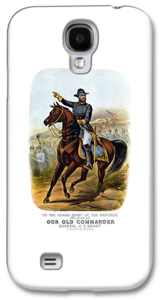 Civil War Galaxy S4 Cases - Our Old Commander - General Grant Galaxy S4 Case by War Is Hell Store