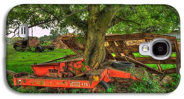 Transportation Photographs Galaxy S4 Cases - Out At Last Case IH 475 Hay Binder Galaxy S4 Case by Reid Callaway
