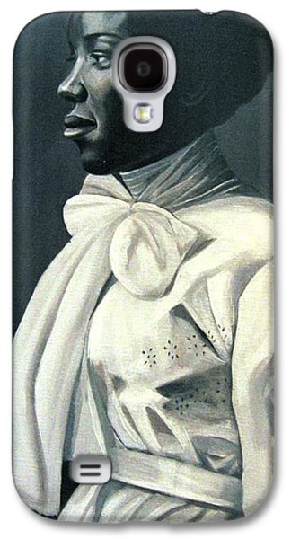 African-american Reliefs Galaxy S4 Cases - Out of the Box Woman in Large White Bow  Galaxy S4 Case by Joyce Owens