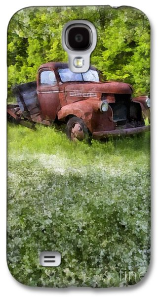 Farm Truck Galaxy S4 Cases - Out to Pasture Galaxy S4 Case by Edward Fielding