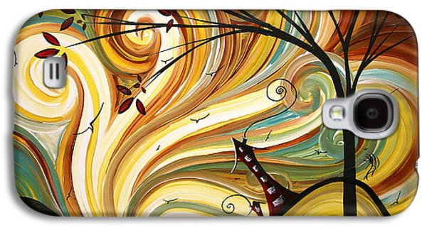 Sun Galaxy S4 Cases - OUT WEST Original MADART Painting Galaxy S4 Case by Megan Duncanson