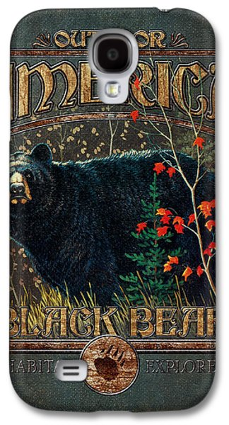 Pine Paintings Galaxy S4 Cases - Outdoor Bear Galaxy S4 Case by JQ Licensing