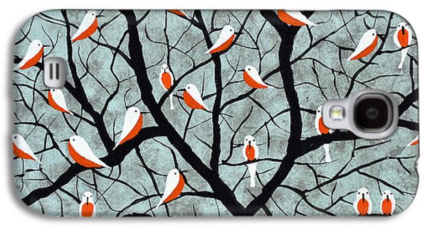 Flock Of Birds Paintings Galaxy S4 Cases - Over the branches Galaxy S4 Case by Sumit Mehndiratta