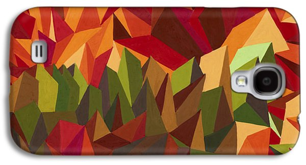 Sunset Abstract Pastels Galaxy S4 Cases - Over the Sunset Mountains Galaxy S4 Case by Sean Corcoran