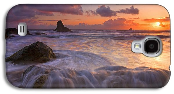 Sunset Galaxy S4 Cases - Overcome Galaxy S4 Case by Mike  Dawson