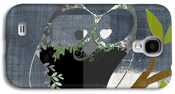 Grey Digital Art Galaxy S4 Cases - Owl Design - j140149146-v131b  Galaxy S4 Case by Variance Collections
