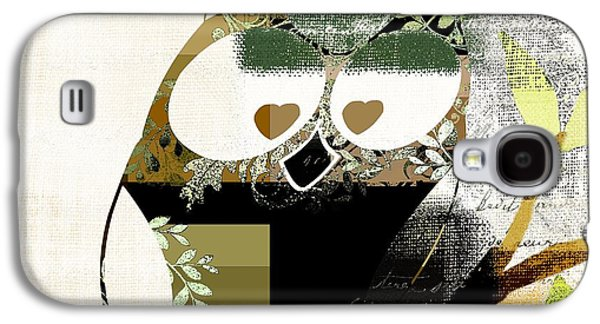 Abstract Realism Digital Art Galaxy S4 Cases - Owl Design - j164049167-v03 Galaxy S4 Case by Variance Collections