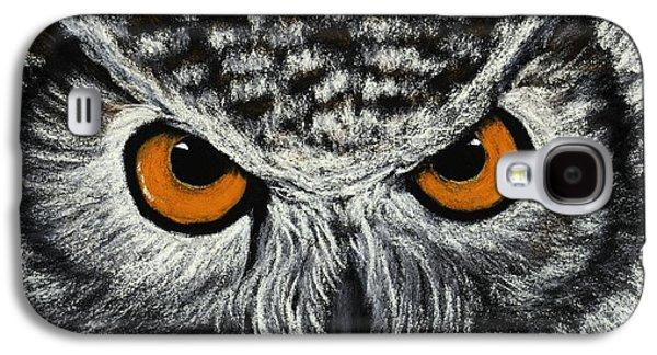 Galaxy S4 Cases - Owl Eyes Galaxy S4 Case by Anastasiya Malakhova