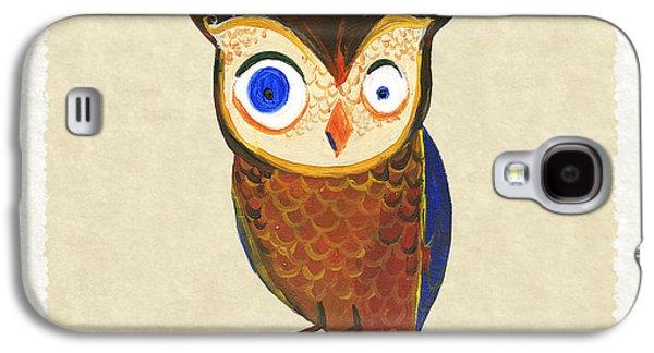 Owl Galaxy S4 Case by Kristina Vardazaryan