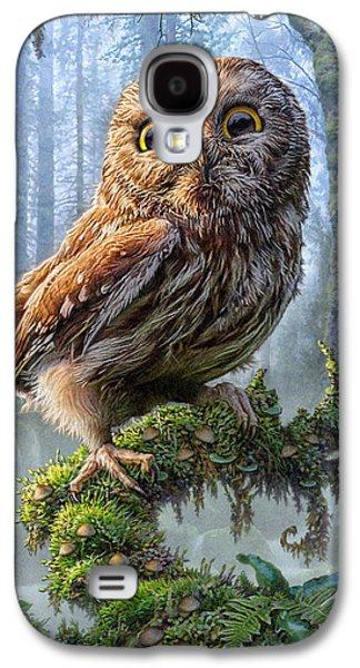 Owl Perch Galaxy S4 Case by Phil Jaeger