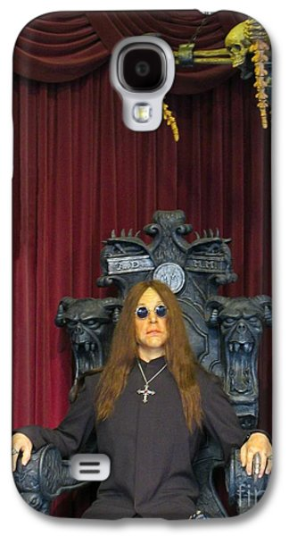 Celebrities Sculptures Galaxy S4 Cases - Ozzy Wax Figure Galaxy S4 Case by John Malone