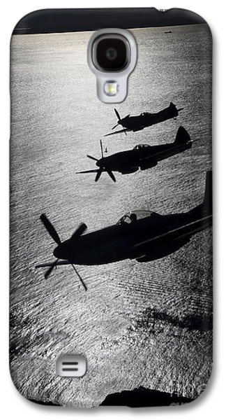 No People Galaxy S4 Cases - P-51 Cavalier Mustang With Supermarine Galaxy S4 Case by Daniel Karlsson
