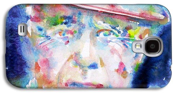 Pablo Galaxy S4 Cases - PABLO PICASSO - watercolor portrait.4 Galaxy S4 Case by Fabrizio Cassetta