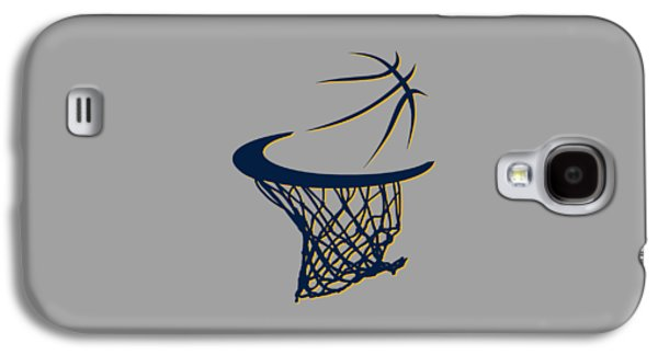 Pacers Galaxy S4 Cases - Pacers Basketball Hoop Galaxy S4 Case by Joe Hamilton