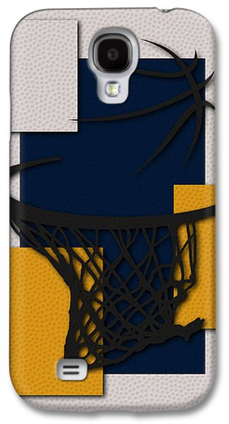 Pacers Galaxy S4 Cases - Pacers Hoop Galaxy S4 Case by Joe Hamilton