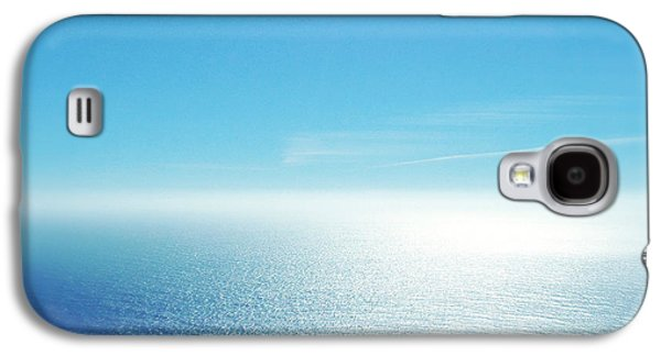 Blue Abstracts Galaxy S4 Cases - Pacific bliss Galaxy S4 Case by Les Cunliffe