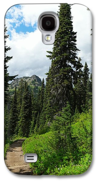 Green Galaxy S4 Cases - Pacific Crest Trail towards American Ridge Galaxy S4 Case by Jeff  Swan