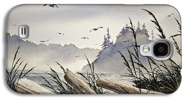 Landscape Framed Prints Galaxy S4 Cases - Pacific Northwest Driftwood Shore Galaxy S4 Case by James Williamson