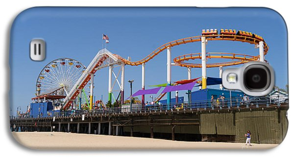 Rollercoaster Photographs Galaxy S4 Cases - Pacific Park at Santa Monica Pier in Santa Monica California DSC3688 Galaxy S4 Case by Wingsdomain Art and Photography