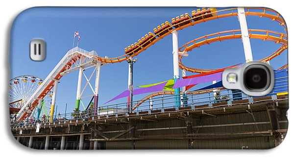 Rollercoaster Photographs Galaxy S4 Cases - Pacific Park at Santa Monica Pier in Santa Monica California DSC3699 Galaxy S4 Case by Wingsdomain Art and Photography