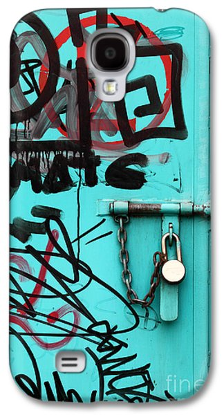 Vandalize Photographs Galaxy S4 Cases - Padlock and Graffiti Galaxy S4 Case by James Brunker
