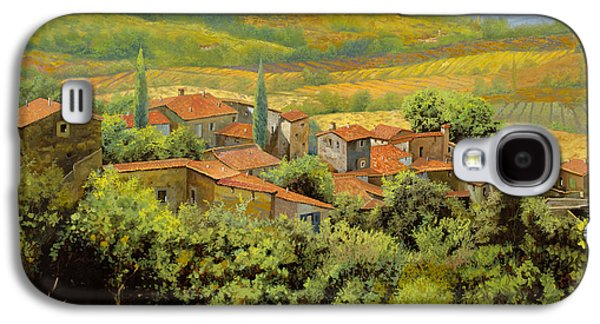 Holiday Paintings Galaxy S4 Cases - Paesaggio Toscano Galaxy S4 Case by Guido Borelli