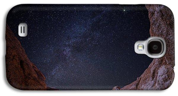 Paint Mine Milky Way Galaxy S4 Case by Darren  White