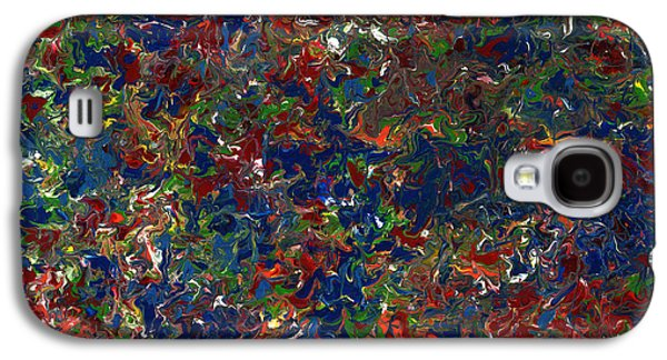 Colorful Abstract Galaxy S4 Cases - Paint number 1 Galaxy S4 Case by James W Johnson
