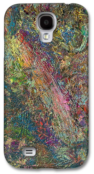 Modern Abstract Galaxy S4 Cases - Paint number 27 Galaxy S4 Case by James W Johnson