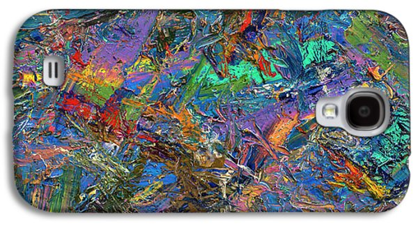 Modern Abstract Galaxy S4 Cases - Paint number 28 Galaxy S4 Case by James W Johnson