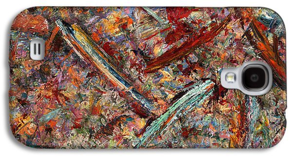 Abstract Expressionism Galaxy S4 Cases - Paint number 30 Galaxy S4 Case by James W Johnson